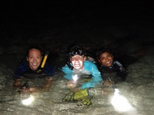 night diving Eco Dive Grand Anse